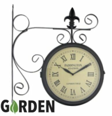 New Garden Modern Design Paddington Station Double Sided Wall Clock