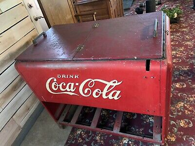 Vintage Coca-Cola Cooler ORIGINAL Condition 1936 Works! OH/WV/PA