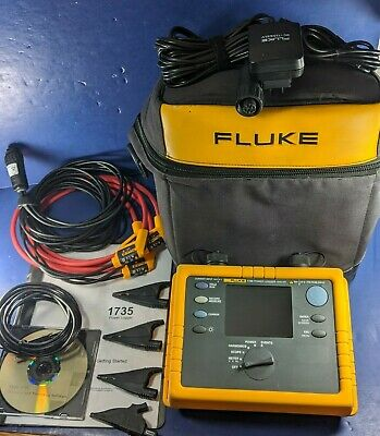 Fluke 1735 Power Logger Analyst PQ Power Quality 3 Phase Meter