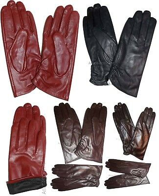 New Ladies dressy stylish Leather Gloves Winter Gloves soft Warm Lined Leather
