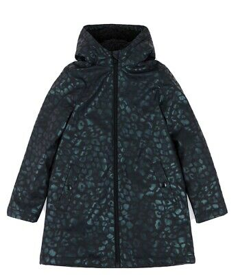 M&S Animal Print Fisherman Raincoat Black Mix SIZE 10-11 Yrs