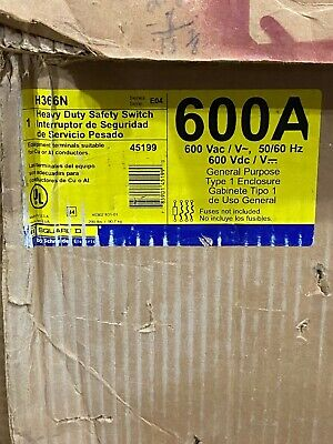 Square D H366N Safety Switch 600A
