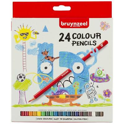 Kids colour pencils hexagonal Pack of 24 BRUYNZEEL