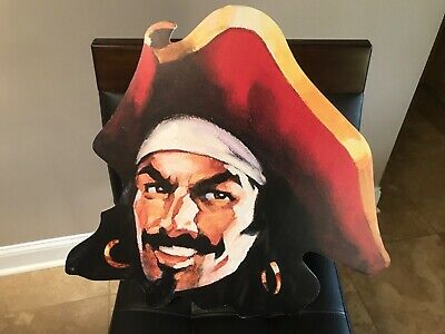 "Captain Morgan Promot Pirate Head Advertising Sign Spiced Rum 24"" x 22"" man cave"