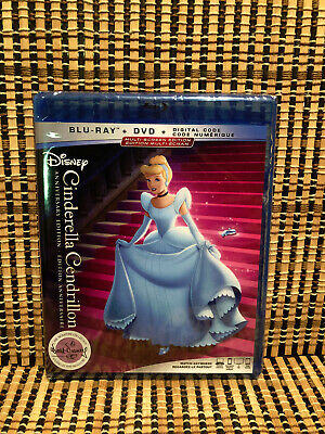 Cinderella (2-Disc Blu-ray/DVD, 2019)Disney Signature Collection.Animated Classi