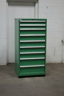 Used Lista 9 drawer cabinet industrial tool storage #2144 Vidmar