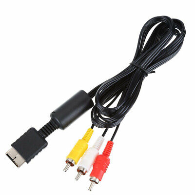 6ft AV Cable to 3 RCA TV Lead for Sony Playstation PS1 PS2 PS3 Gamepad