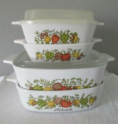 Corning Ware Spice of Life casserole dishes lids P-41 P-43 A-1-B A-1 1/2-B
