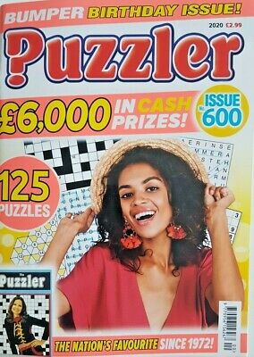 Puzzler Mag 2020 # 600 = Bumper Birthday Issue - 125 Puzzles