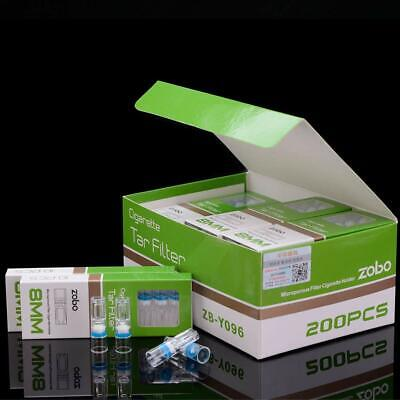 ZOBO Disposable Microporous Cigarette Filters Reduce Tar and Smoke Stains (200 P