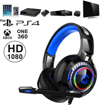 Gaming Headset 4D Surround Stereo HD Mic For Nintendo Switch, PS4 Xbox One & PC