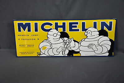 """Collectible Michelin Tire Paragon Porcelain Sign, Made France, 27 1/2"""" x 10 1/2"""""""