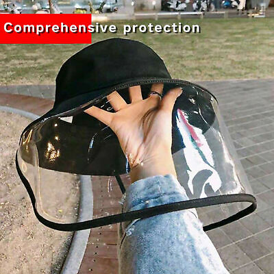 Fisherman Hat Protective Clear Cover Saliva-proof Dust-proof Face Shield Cap