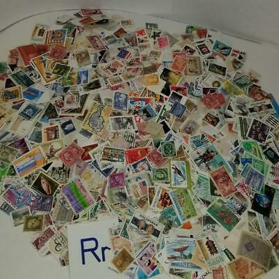 8.6oz used cancelled postage stamps off paper US International worldwide R