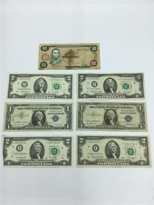Lot (6) US CURRENCY (2) Silver CERTIFICATES (4) $2.00 Federal RESERVE Notes