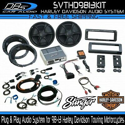 Stinger Plug & Play Audio System for 98-13 Harley Davidson Touring Motorcycles