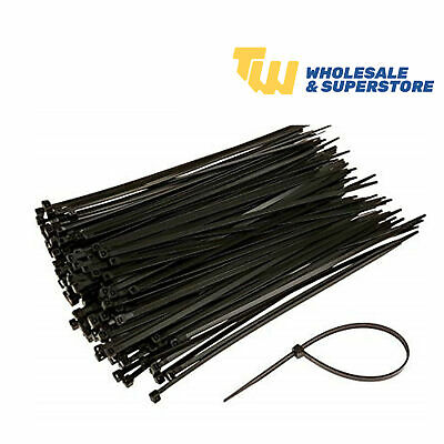 Cable Ties Zip Tie Wrap Nylon Strong Flexible 240mm 200 Piece Pack! High Quality