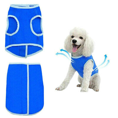 Summer Cooling Jacket Coat Vest T-shirt Clothes Clothing For Dogs Puppy Pet Blue