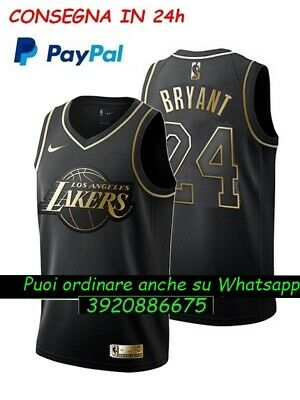 LA LAKERS jersey canotta NBA kobe bryant #24 golden edition WHITE