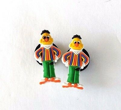 Bert Croc shoe charms (2) Sesame Street new