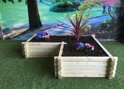 Corner Planter, L Shaped, Wooden Planter, Raised Flower Bed Timber FREE DELIVERY