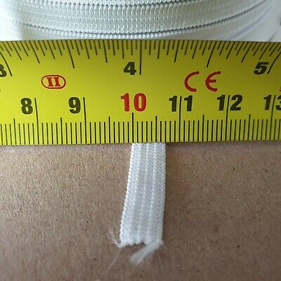 """6mm-7mm 1/4"""" 5 Cord White Flat Elastic Craft Sewing Face Mask"""