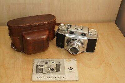 Agfa super sillette camera, case, instructions and filter