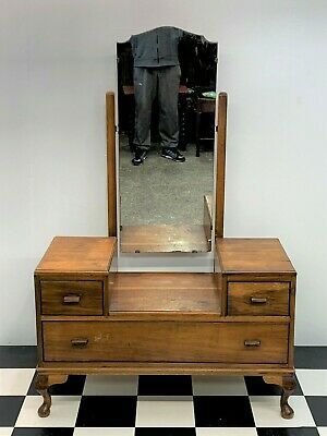 Antique mahogany dressing table with cheval mirror Queen Anne Delivery Available