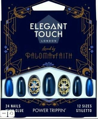 New Elegant Touch False Nails Paloma Faith Col Power Trippin' 12 Sizes Coffin