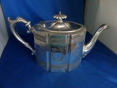 Victorian Silver Plate Large Tea Pot C.1890 James Dixon & Sons Sheffield