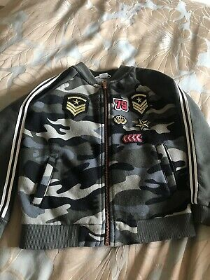 River Island Girls Army Camouflage Zip Up Jacket 3-4