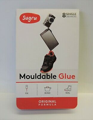 Sugru Moldable Glue  Original Formula White 8-Pack EXP 07-2019 NEW