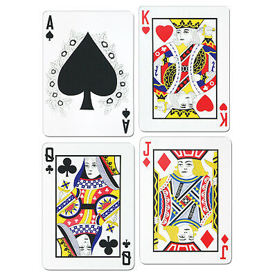 (12) Pkgd Playing Card Cutouts prtd 2 sides w/different designs