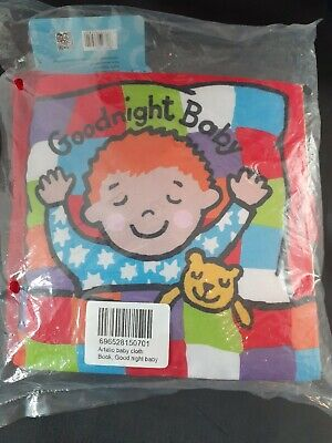 """New Little Jellycat """"Goodnight Baby"""" Cloth Fabric Interactive Book"""