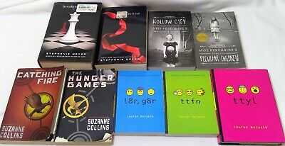 book mixed lot 9 twilight hunger games peregrine young adult chapter vintage b49
