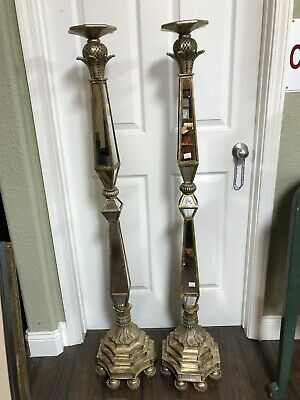 Pair of Unique Large Candle Holders