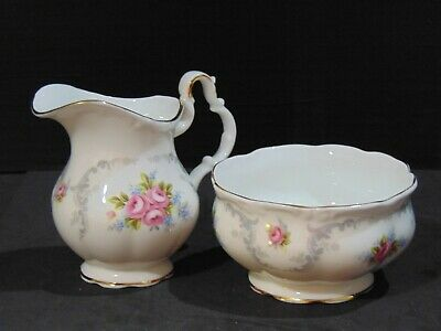 Vintage Royal Albert / Tranquillity / Creamer and Sugar Set / Small