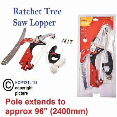 Ratchet Tree Lopper & Telescopic Pole Saw Pruning Cutting Branch Telescopic New