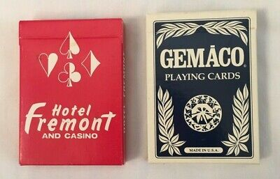 Lot of 2 Playing Cards Hotel Fremont and Casino Las Vegas Red and Blue Decks