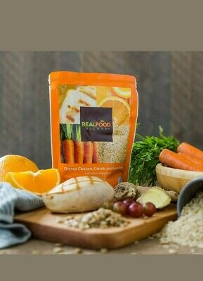 Real Food Blends Orange Chicken, Carrots & Brown Rice 12 Pouches (1case)