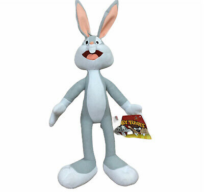 """Looney Tunes Bugs Bunny Rabbit 17"""" Plush Warner Brothers New With Tags"""