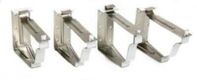"2 Piece 5"" White Aluminum Snap Lok Fascia Bracket Only One"