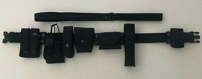 Police/Security Duty Belt with complete Molle pouch set