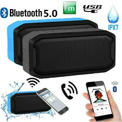 Portable Bluetooth Speaker Bass Wireless Outdoor Stereo Waterproof USB/TF/AUX FM