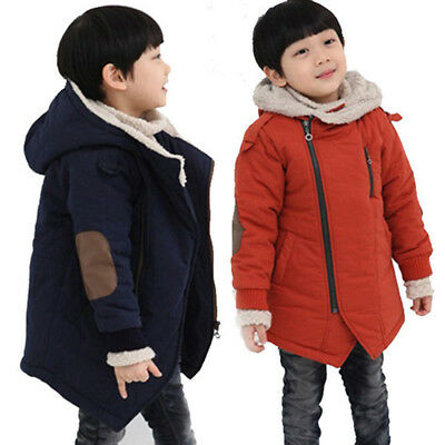 Boys Winter Jacket Clothing Fine Children Jackets Hooded With Fur Outerwear Warm