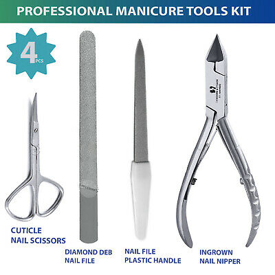 Manicure Set Professional Nail Cutting Kit Pedicure Care Tools Stainless 4Pcs
