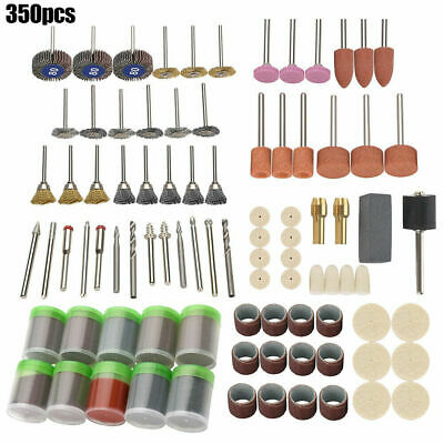 350Pcs Rotary Drill Tool Accessories Bit Set Polishing Kit For Dremel Grinding.