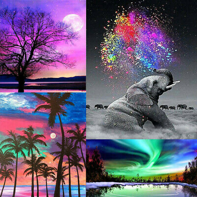 Home Decor 5D DIY Wall Landscape Full Diamond Painting Tree Sunset Painting