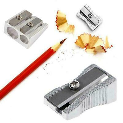 Metal Aluminium Single And Double Hole Pencil Sharpener - Brand New I7M2
