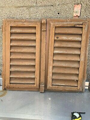 Vintage Wooden Shutters Shabby Look